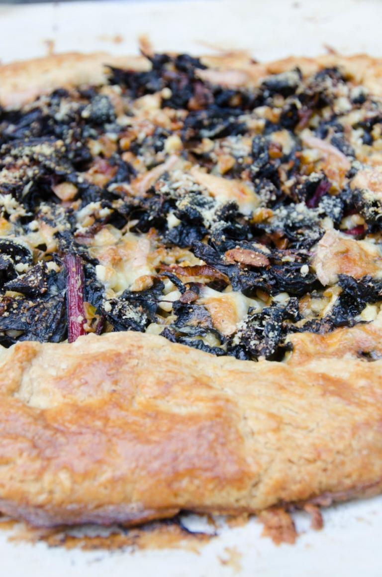 Chard Crostata (Galette) Corn Taleggio Olives | Umami Girl-2