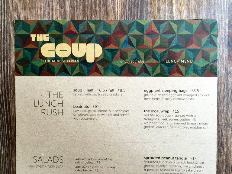 The Coup Vegetarian Restaurant Calgary Menu | Umami Girl