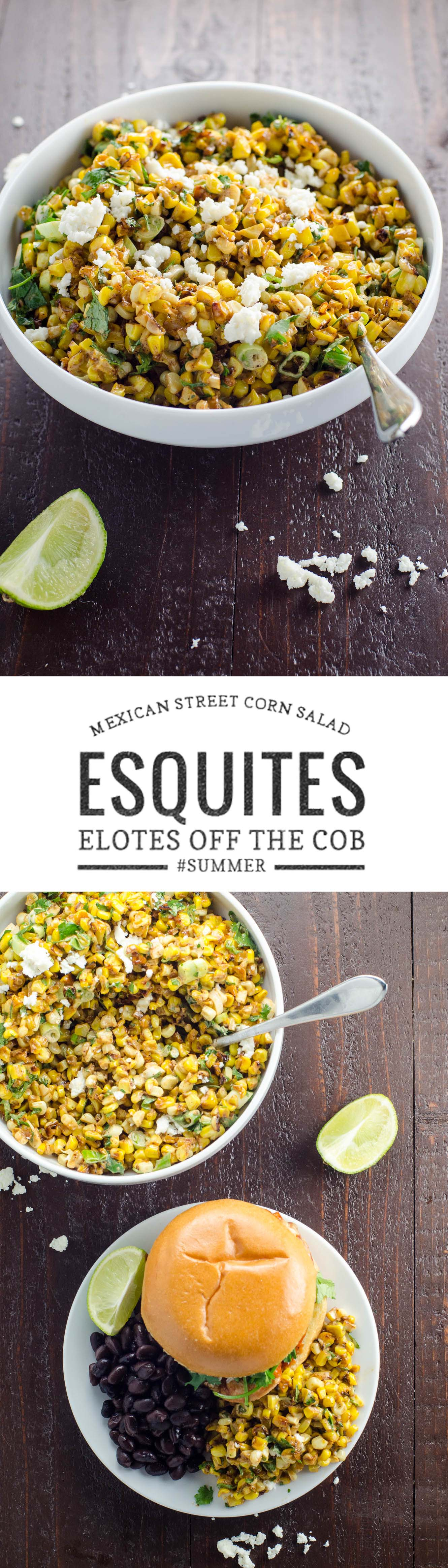 Esquites, or Mexican street corn salad, is a wonderful savory side dish that you won't be able to get enough of. It's quick to make and scales beautifully.