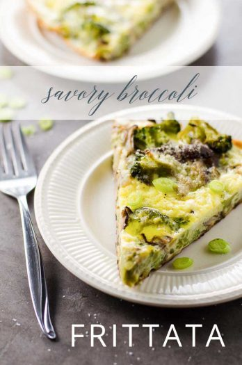 Broccoli Frittata with Shiitakes _ Umami Girl PIN