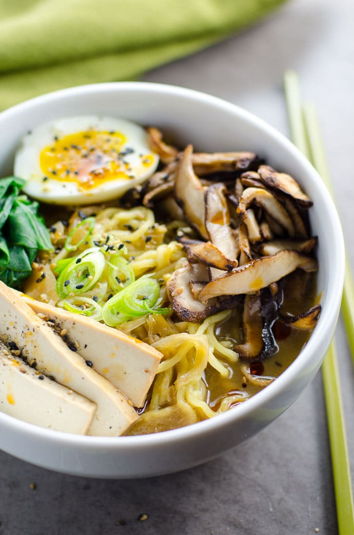 Easy Vegetarian Ramen with Rich, Savory Broth