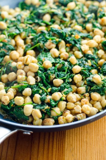 Quick Indian Spinach and Chickpea Curry