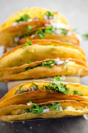 Crispy Potato Tacos (Tacos de Papa)
