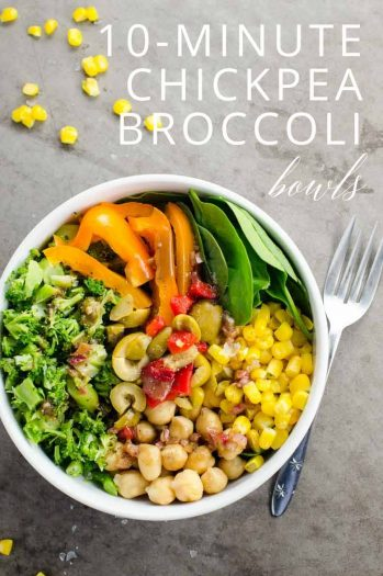 10-Minute Chickpea Broccoli Bowls _ Umami Girl PIN