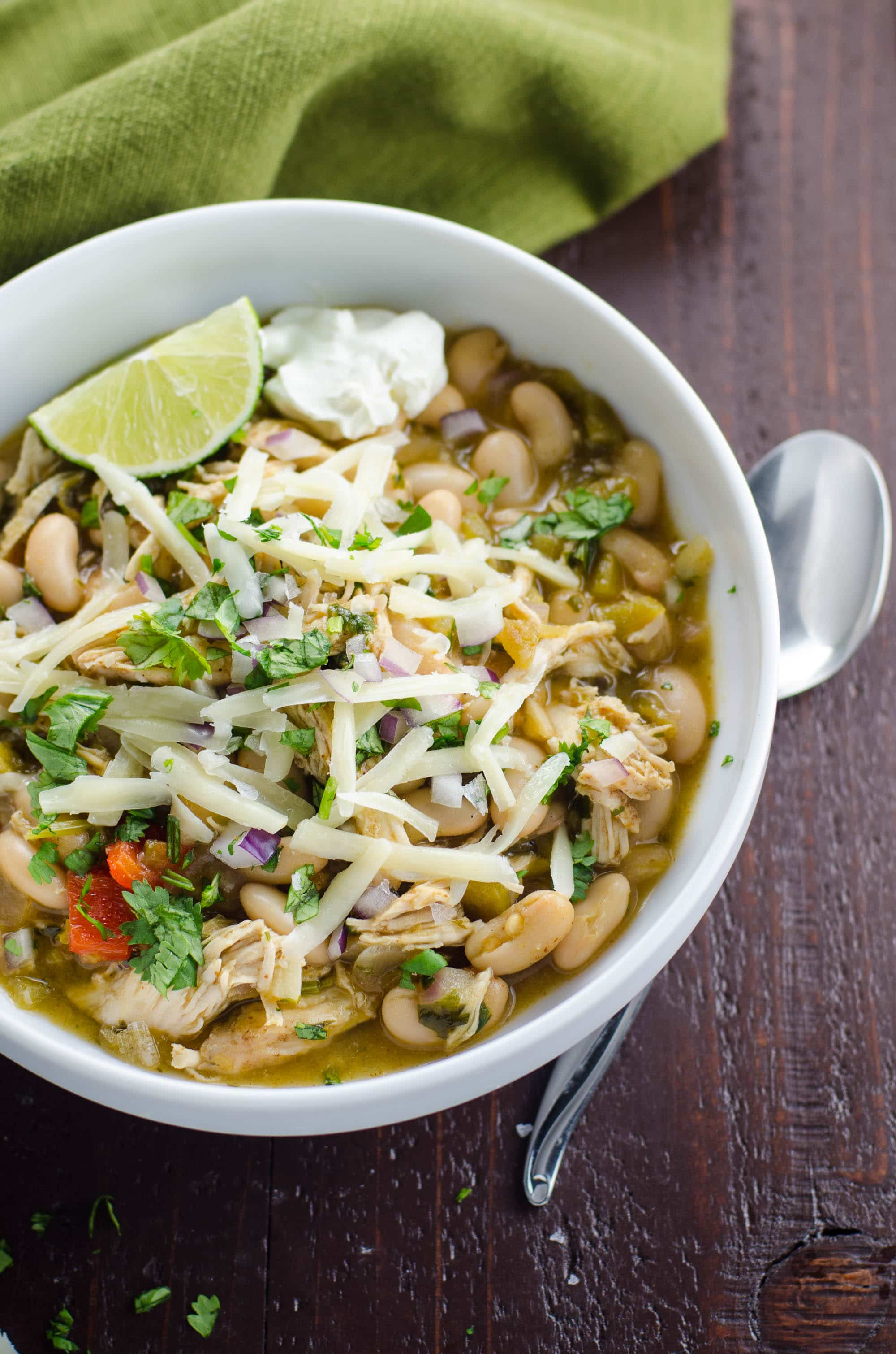 Chicken and White Bean Chili Recipe | Umami Girl