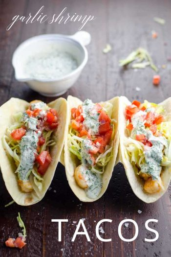 Garlic Shrimp Tacos _ Umami Girl PIN