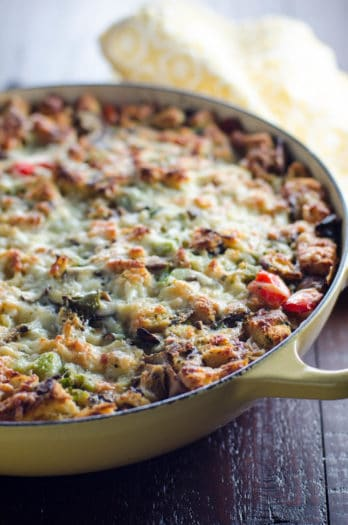 Easy Vegetarian Make-Ahead Breakfast Casserole