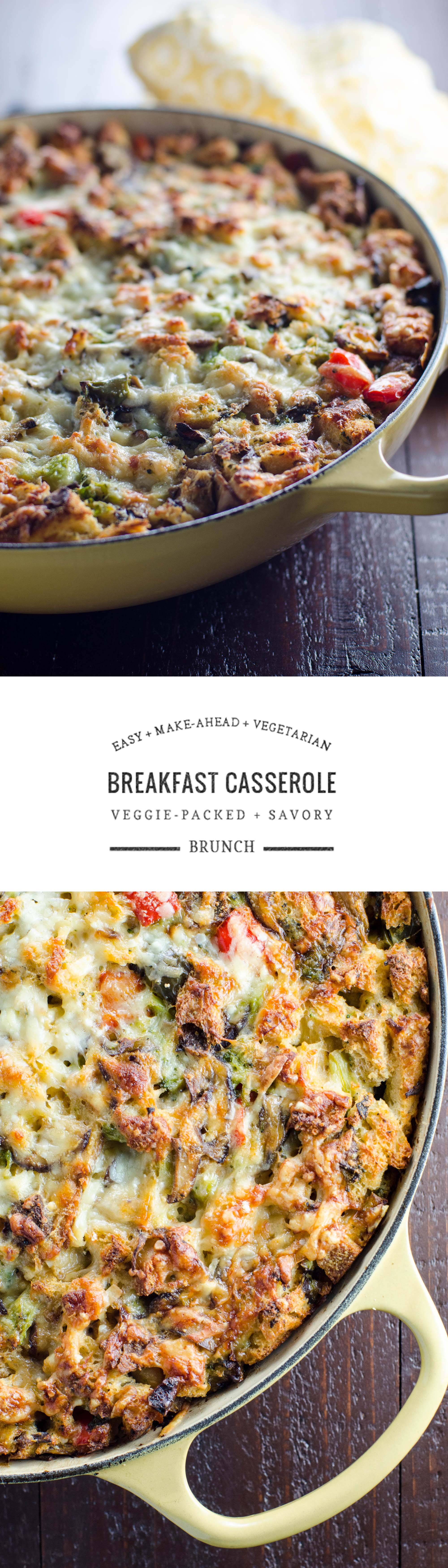This savory make-ahead vegetarian breakfast casserole is perfect for Christmas morning or your next brunch.