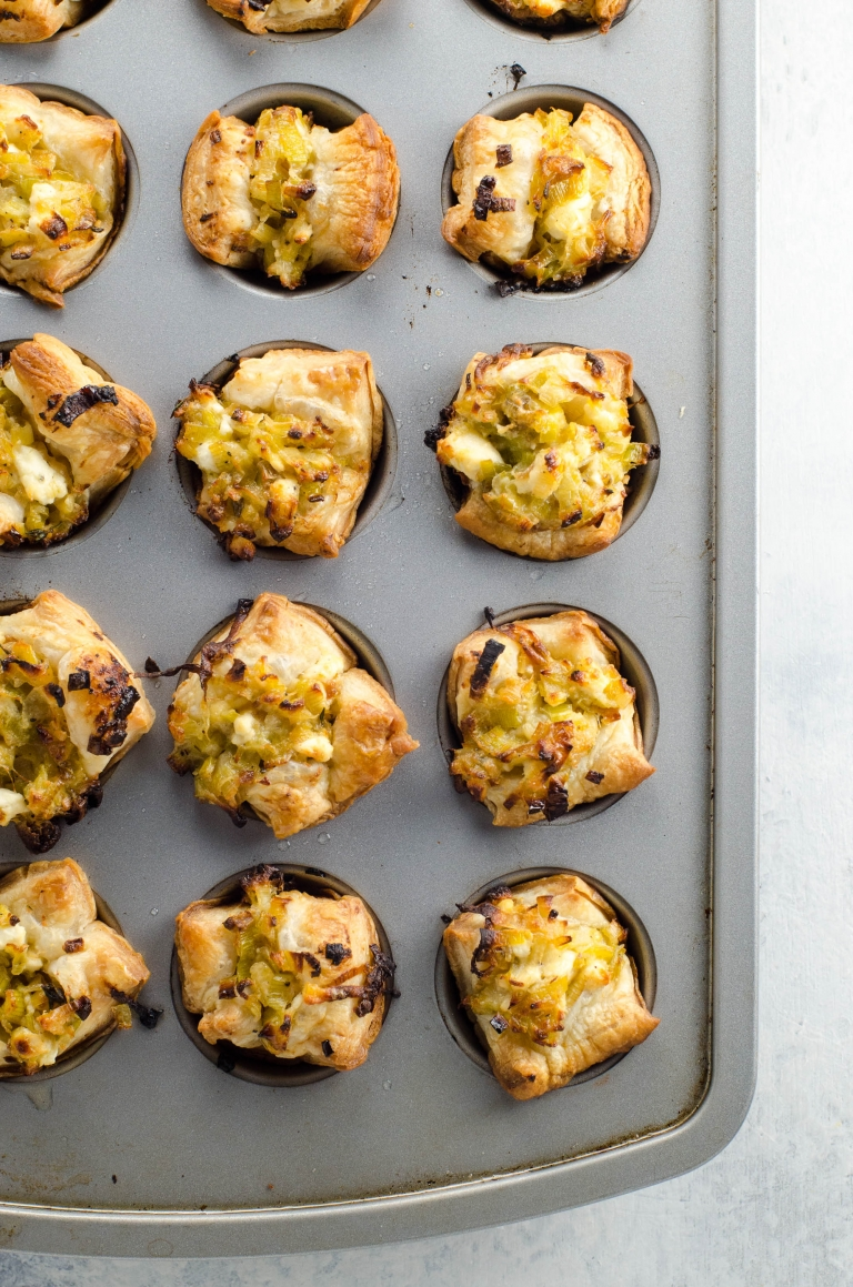 Easy Appetizers: Creamy Leeks in Puff Pastry Cups | Umami Girl