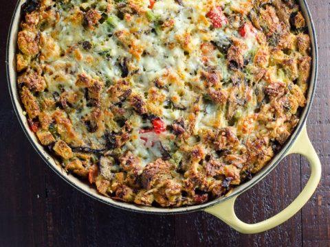 Easy Vegetarian Make Ahead Breakfast Casserole | Umami Girl