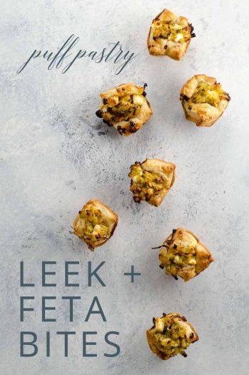 Puff Pastry Appetizers Leeks Feta _ Umami Girl PIN