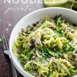 Spiralized Zucchini Noodles Recipe