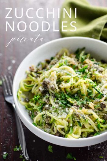 Spiralized Zucchini Noodles Recipe _ Umami Girl PIN