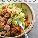 Zoodles Bolognese Zucchini Noodles with Turkey Meat Sauce _ Umami Girl PIN
