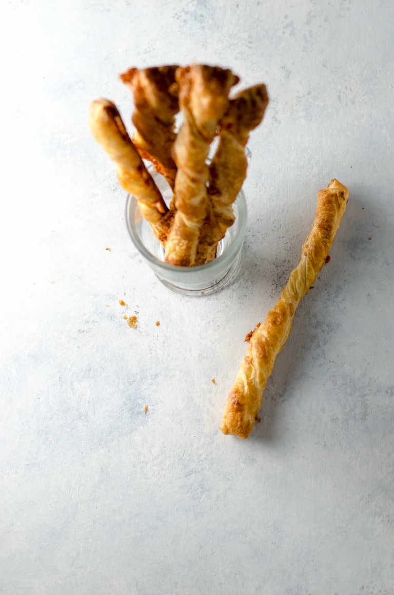 Cheese Straws Recipe with Puff Pastry and Cheddar | Umami Girl