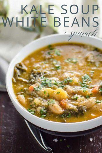 Easy Kale Soup White Beans Potatoes _ Umami Girl PIN