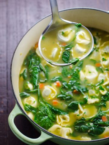 Spinach Tortellini Soup | Umami Girl