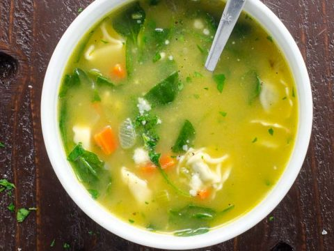 Spinach Tortellini Soup | Umami Girl