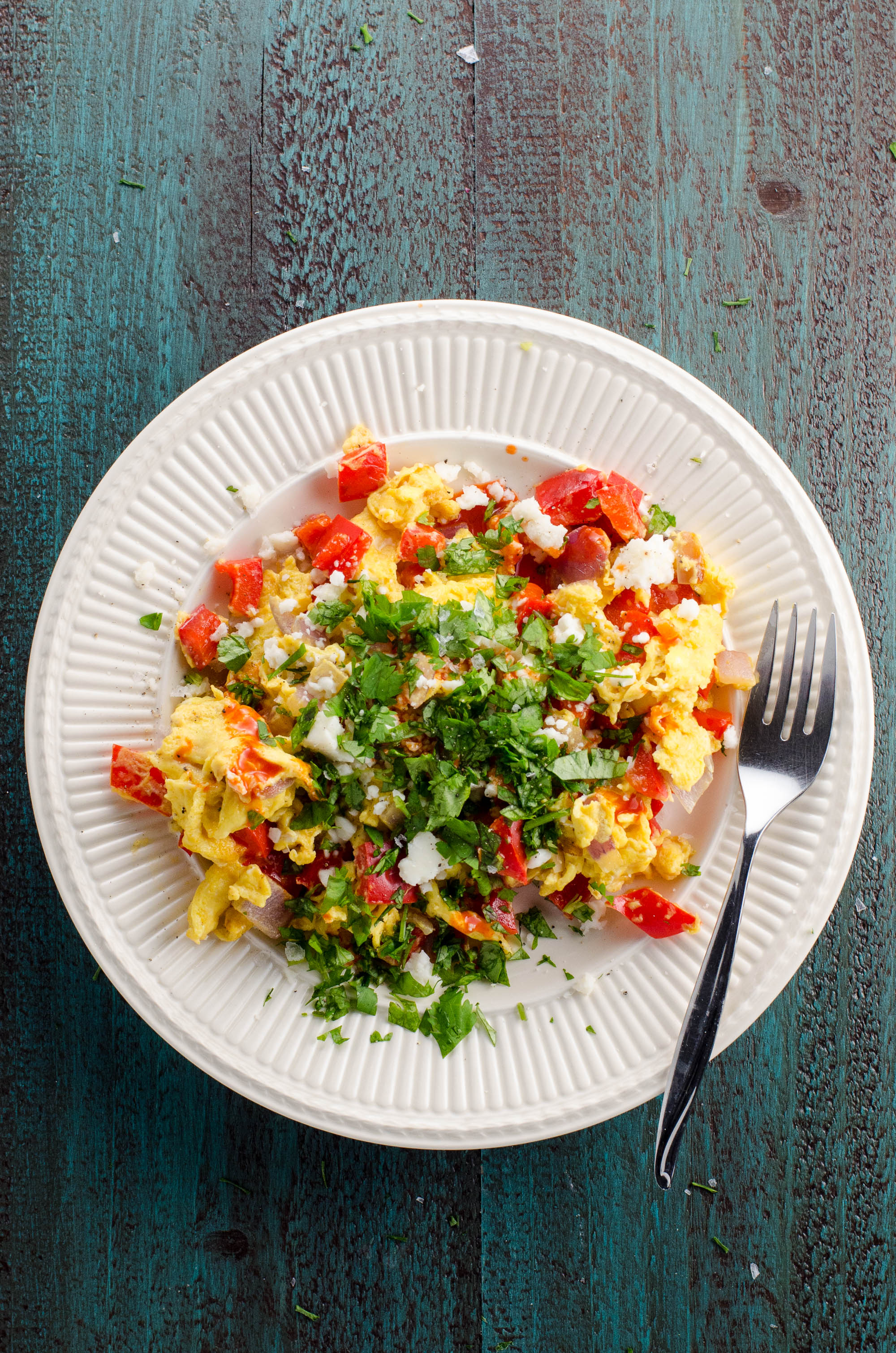 Peppers and Onions Scrambled Eggs | Umami Girl