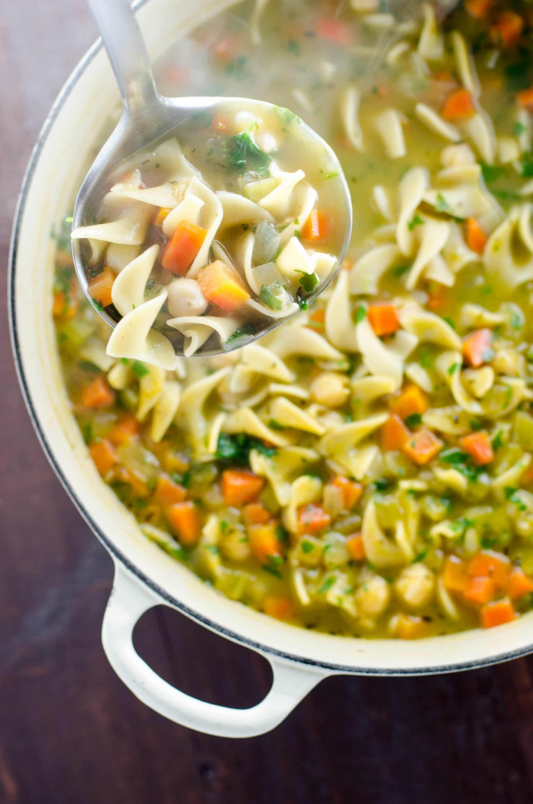 Chickpea Noodle Soup: Vegan Comfort Food | Umami Girl