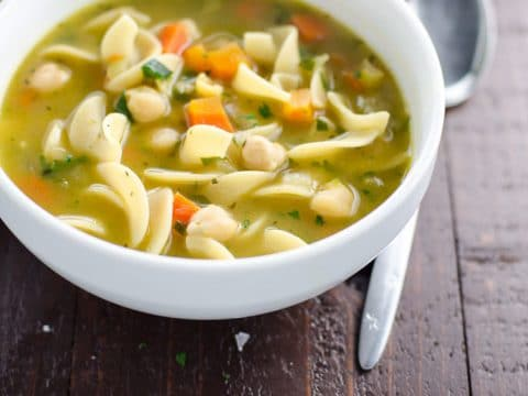 Chickpea Noodle Soup Vegan Chicken Noodle Soup 780 | Umami Girl