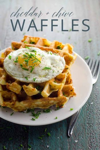 Savory Waffle Recipe with Cheddar and Chives