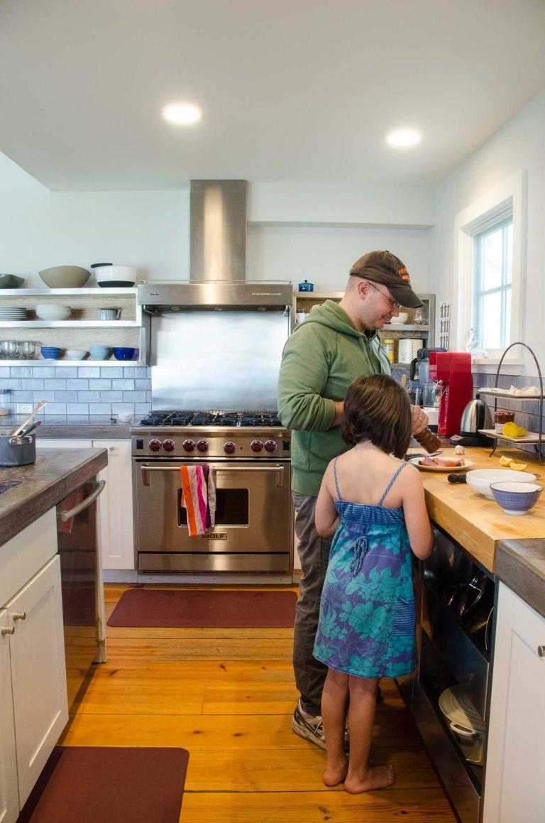 Blue Apron Cooking Seared Wild Salmon | Umami Girl