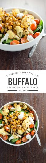 Buffalo Cauliflower and Roasted Chickpeas | Umami Girl