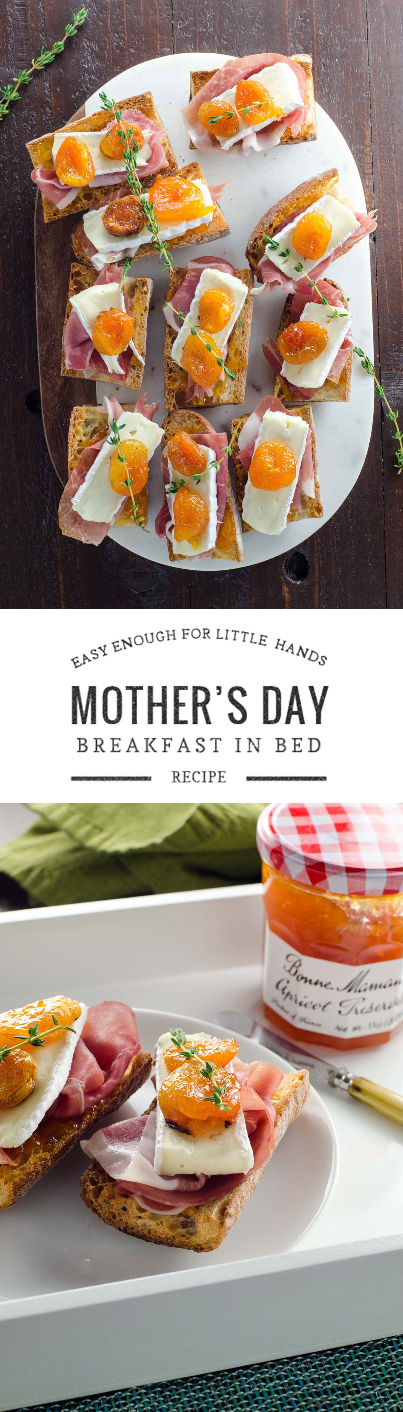 An easy but elegant breakfast in bed idea for Mother's Day. Also makes a great appetizer. #sponsored #sayitwithhomemade @bonnemamanus