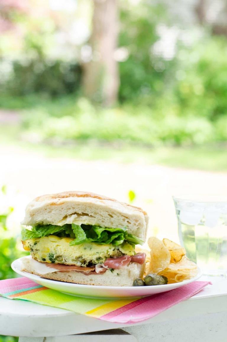 Easy Picnic Food Frittata Sandwich   Umami Girl