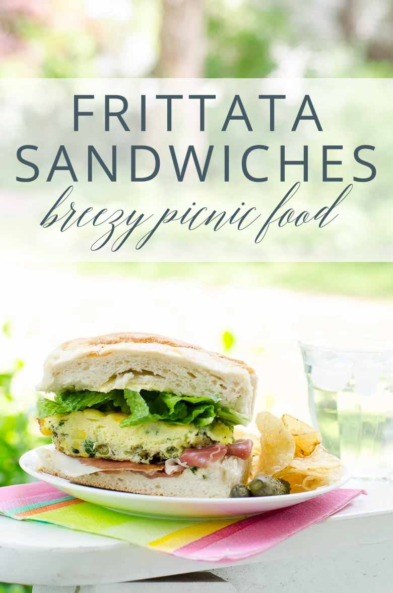 Frittata Sandwiches Picnic Idea _ Umami Girl PIN