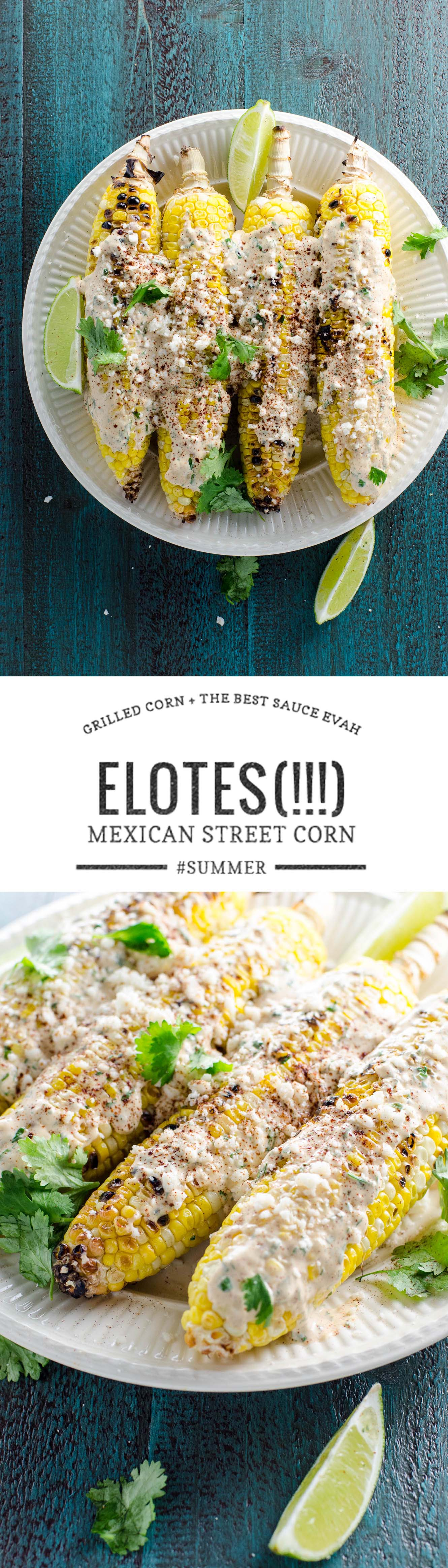 Grilled Mexican street corn (elotes) deserves all the hype. It's easy, so delicious and perfect for your next party...or dinner...or lunch.
