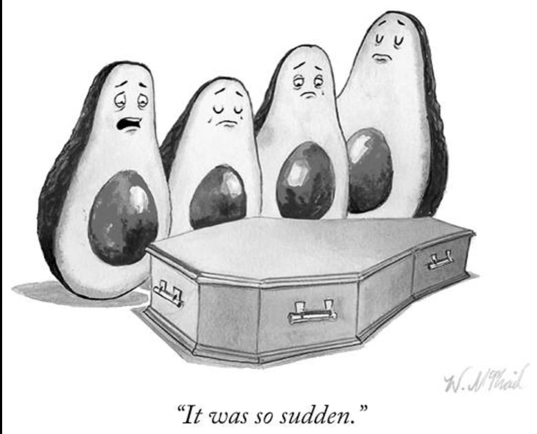 Will McPhail Avocado Ripening Cartoon New Yorker Magazine