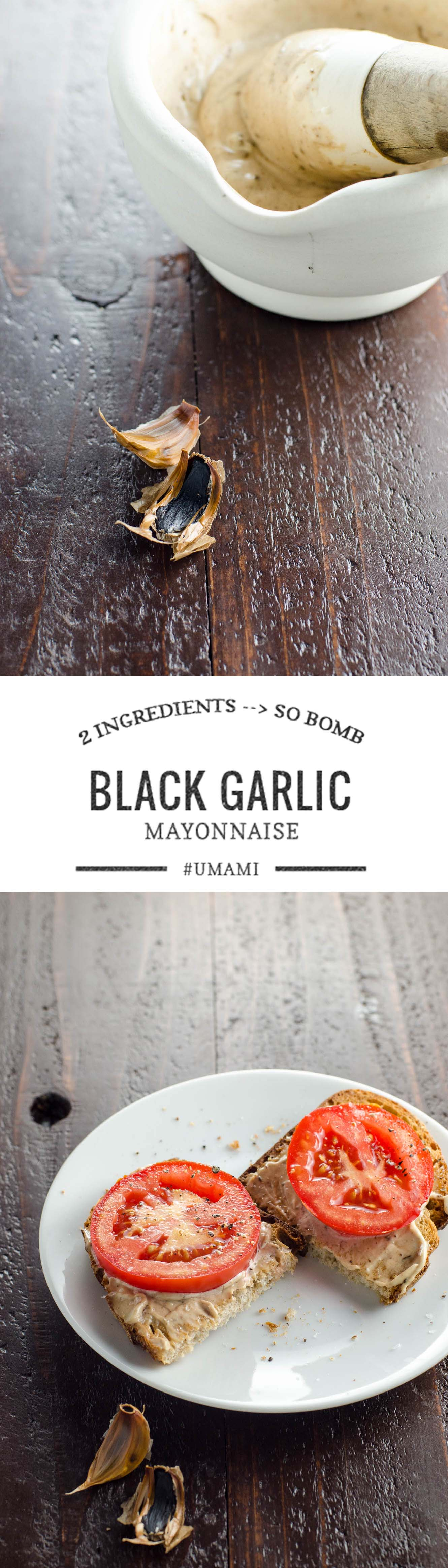 The two-ingredient spread that will change your life. Or at least your sandwich. Black Garlic Mayo.