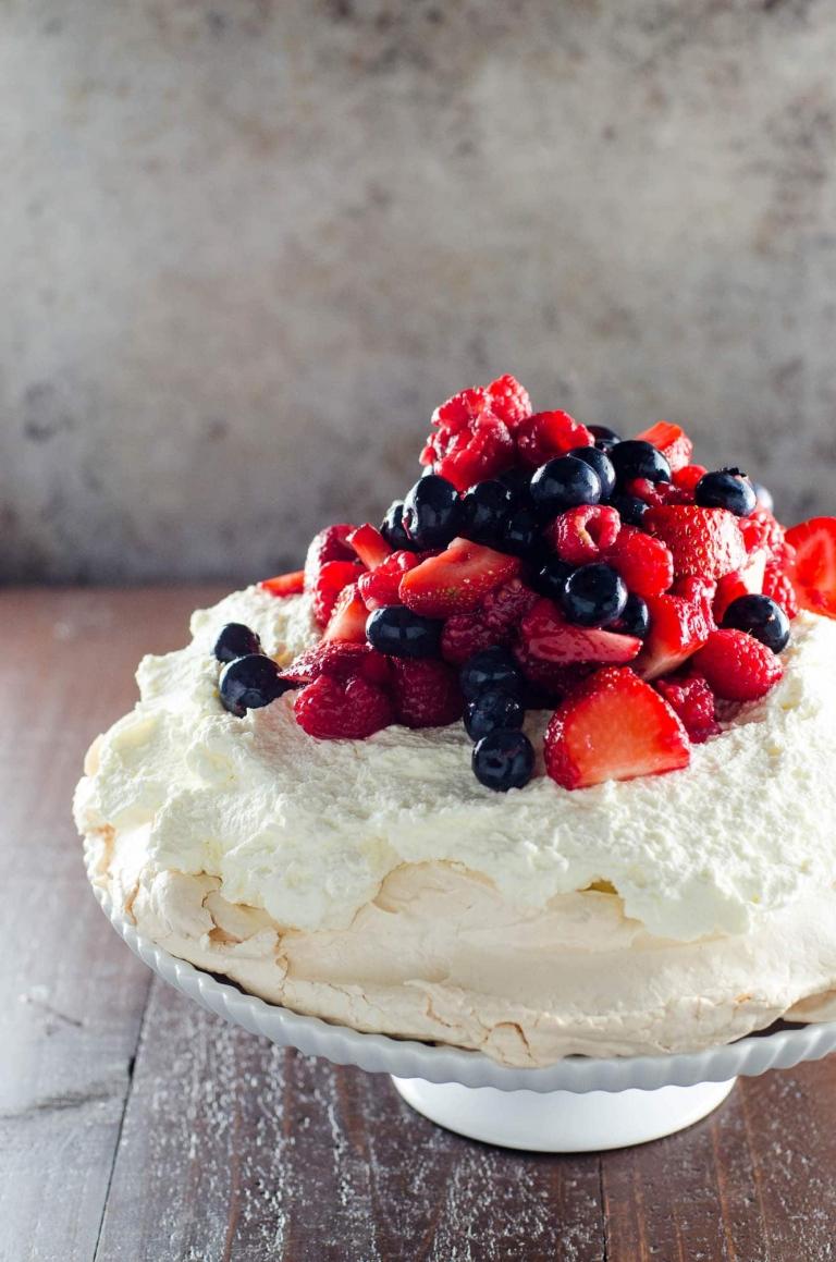 Classic Pavlova Recipe with Mixed Berries   Umami Girl