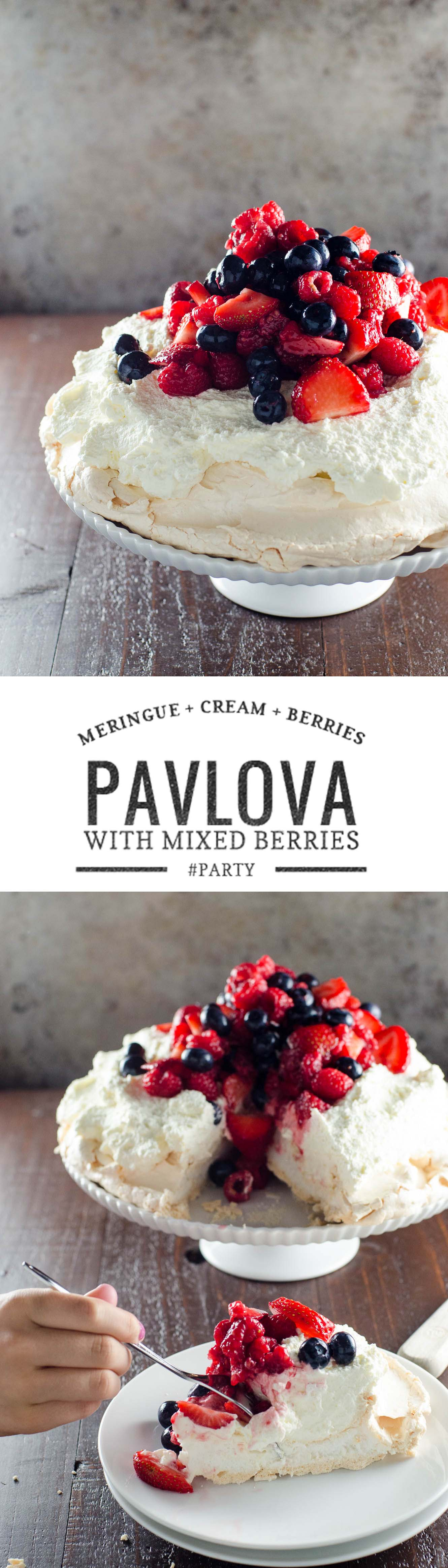 This elegant, classic dessert, named after the ballerina Anna Pavlova, is WAY easier than it looks.