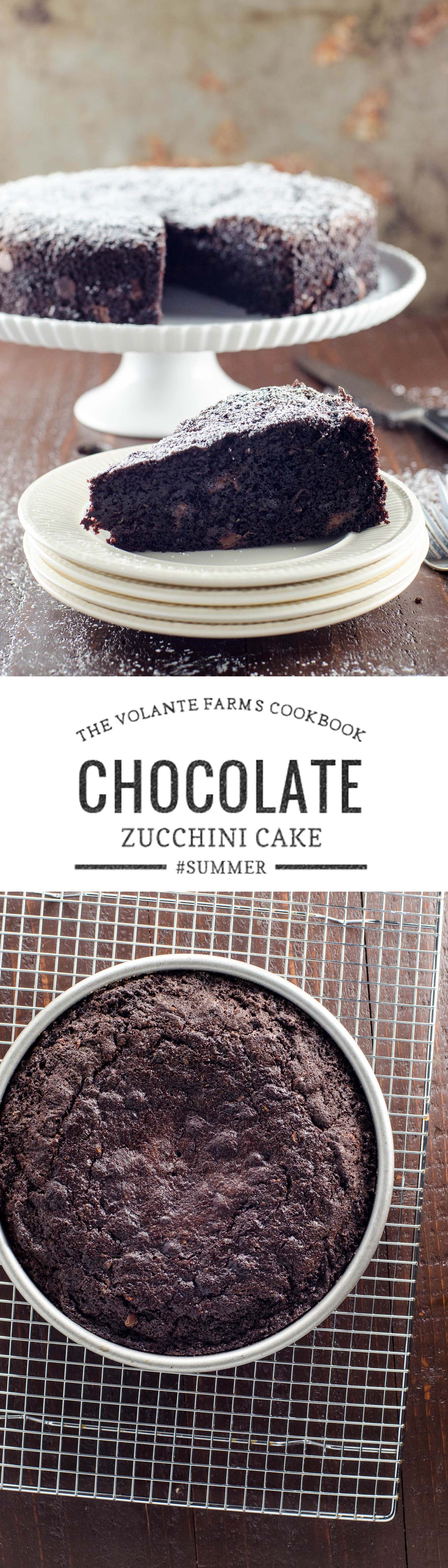 This wonderful, unfussy chocolate zucchini cake is adapted from The Volante Farms cookbook, celebrating the market of the same name in Needham, MA.