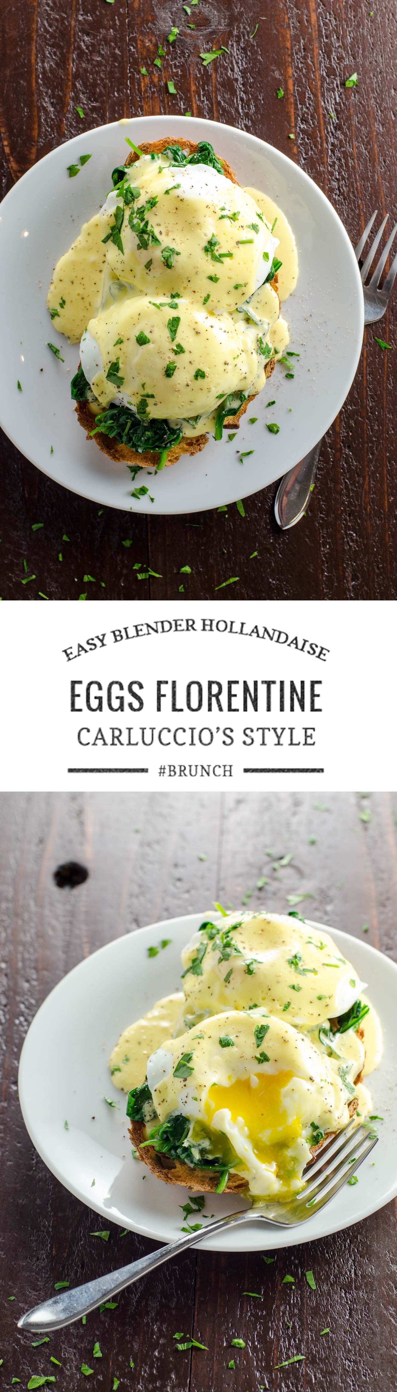 An impressive but easy brunch: Eggs Florentine, inspired by a favorite tradition from our London days.