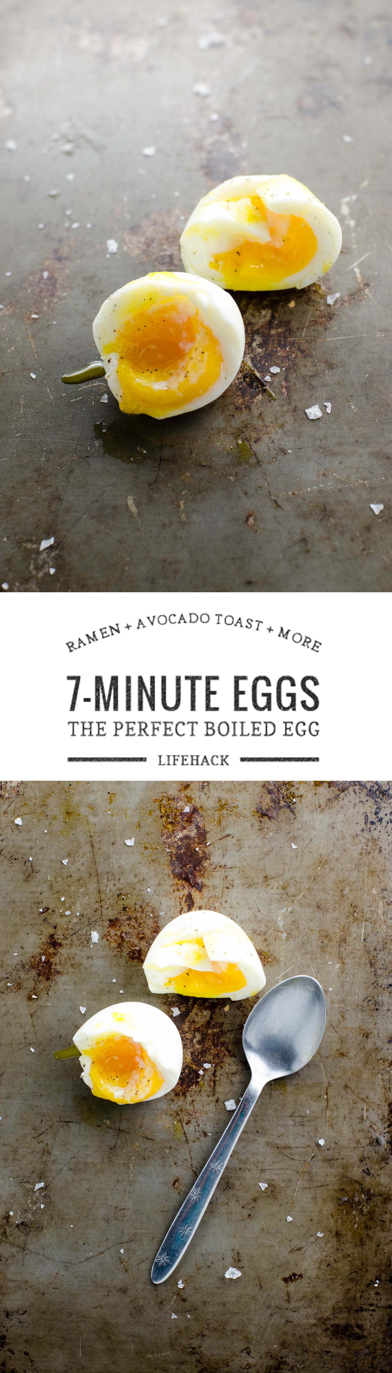 7-minute eggs are the best boiled eggs for everything from ramen to avocado toast to leftover pasta. They're consistent, easy to peel, and have jammy yolks and perfectly set whites.