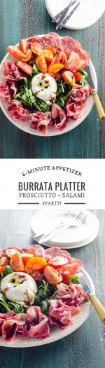 Quick Appetizer Idea Burrata Platter | Umami Girl