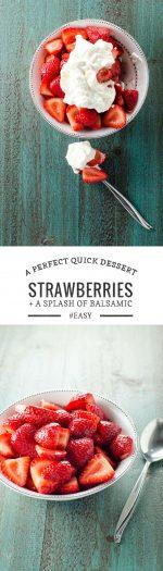 Balsamic Strawberries with Whipped Cream | Umami Girl