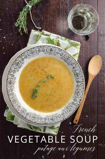 Potage aux Legumes Rustic French Vegetable Soup _ Umami Girl PIN