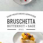 Butternut Squash Bruschetta with Sage and Pomegranate | Umami Girl