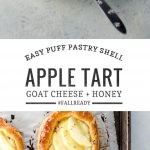 Puff Pastry Apple Tart with Goat Cheese and Honey | Umami Girl