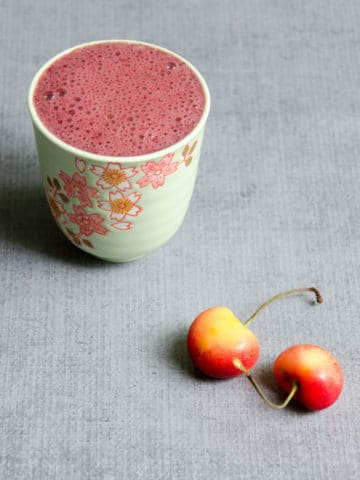 Sweet Dark Cherry Recovery Smoothie | Umami Girl