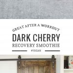 sweet dark cherry recovery smoothie and yoga