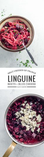 Bleu de Chèvre and Beet Linguine | Umami Girl
