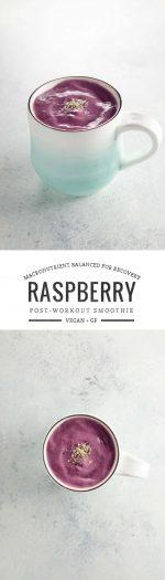 Raspberry Chia Post Workout Smoothie | Umami Girl
