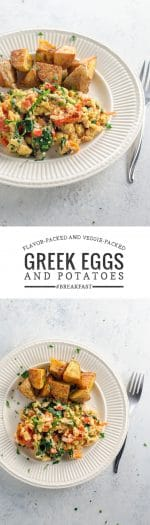 Greek Scrambled Eggs and Veggies | Umami Girl