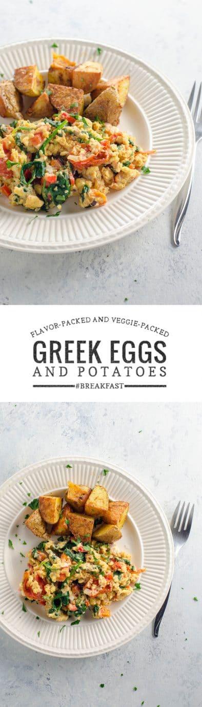 Greek Scrambled Eggs and Veggies   Umami Girl
